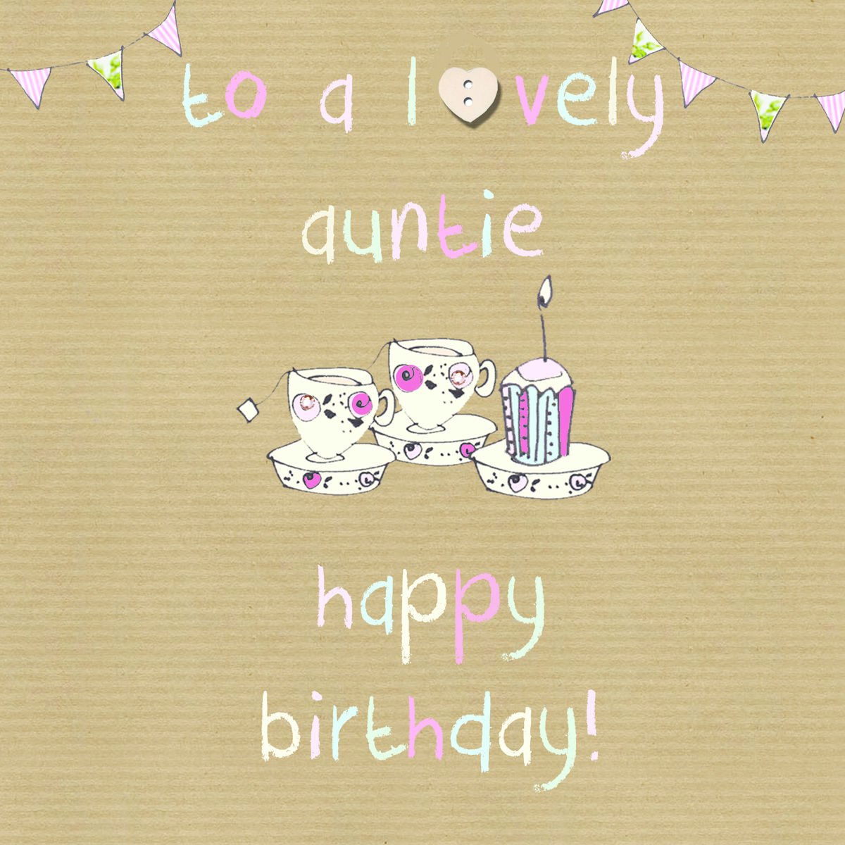 To a lovely auntie happy birthday card karenza paperie to a lovely auntie happy birthday card kristyandbryce Choice Image