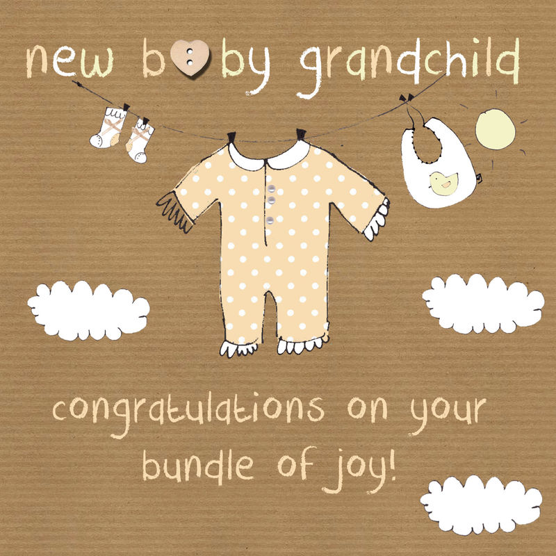 New Baby Grandchild Card - New Grandparent Card - product images