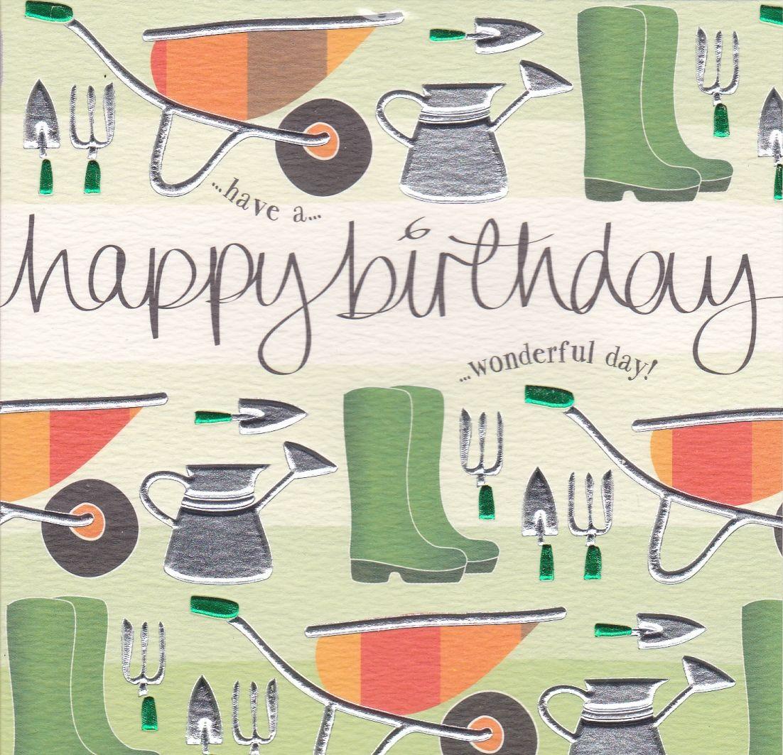Wheelbarrow Gardening Birthday Card Karenza Paperie