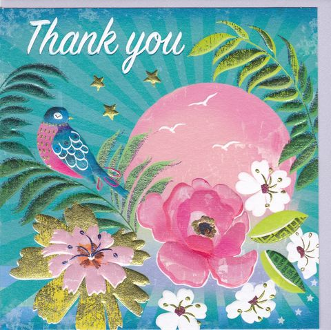 Bird,&,Sun,Thank,You,Card,buy thank you cards online, buy cards for thank you online, bird thank you cards, thank you cards with birds, thank you so much card,