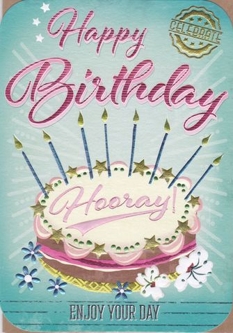 Birthday,Cake,Hooray,Card,buy birthday card for her online, buy birthday cake birthday cards online, buy cake and candles birthday card online, buy bunting birthday card online, birthday cards for girls, female birthday cards, birthday cake birthday cards