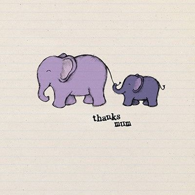 Elephants Mum Thank You Card - Perfect for Mother's Day - product images