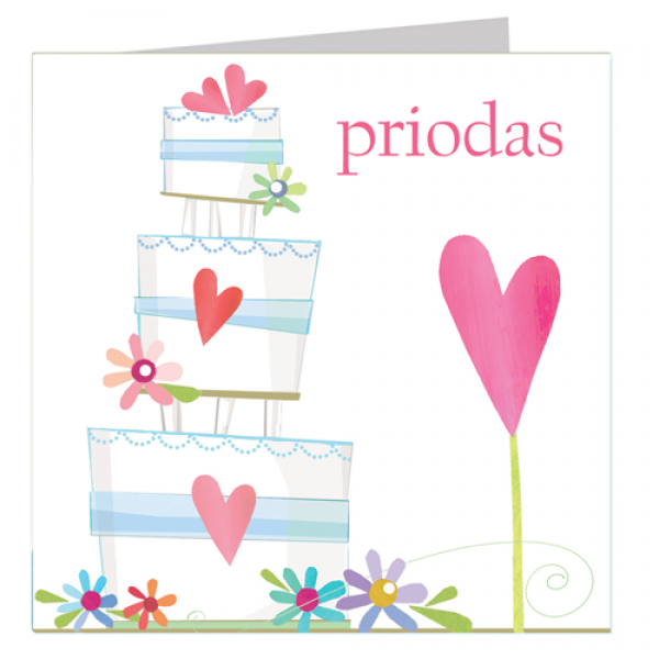 Priodas Welsh Wedding Day Card - product images