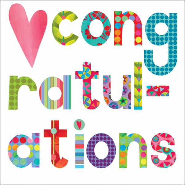 Heart Congratulations Card - product images