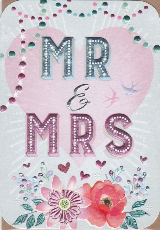 Mr & Mrs Wedding Day Card - product images