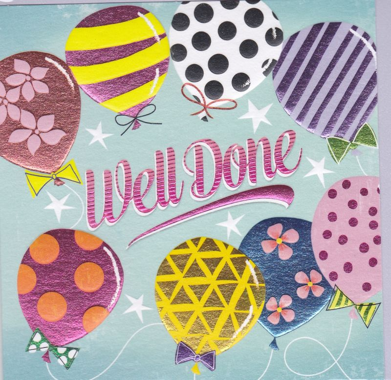 Balloons Well Done Card - product images
