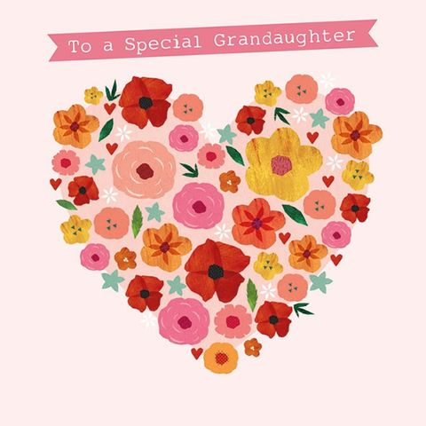Floral,Heart,Grandaughter,Birthday,Card,buy grandaughter birthday card online, cards for grandaughters, granddaughter birthday card, grandchild birthday card, birthday cards for grandchildren, grand daughter birthday card, grand-daughter