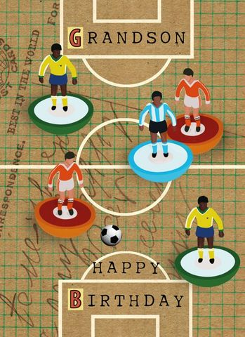Grandson,Subbuteo,Football,Birthday,Card,buy grandson birthday card online, subbuteo birthday card for grandson, table football birthday card, football birthday card for grandson, grand son birthday card, grand-son card, cards for grandchildren, birthday cards for grandchild.