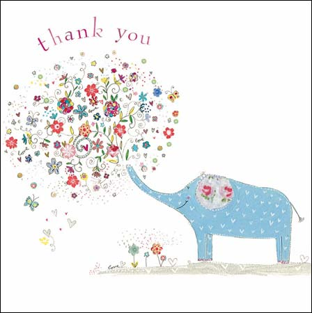 kim anderson elephant thank you card