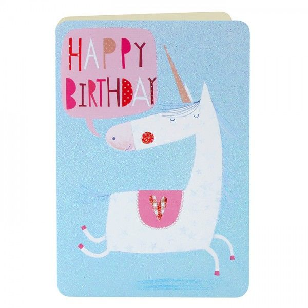 Unicorn Birthday Card - product images
