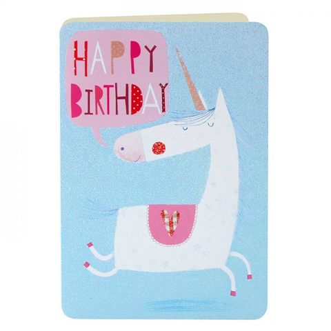 Unicorn,Birthday,Card,buy unicorn birthday card online, buy birthday cards with unicorns online, buy girls birthday cards online, birthday cards for girls, pony birthday cards, magical birthday cards for girls, buy childrens birthday card online