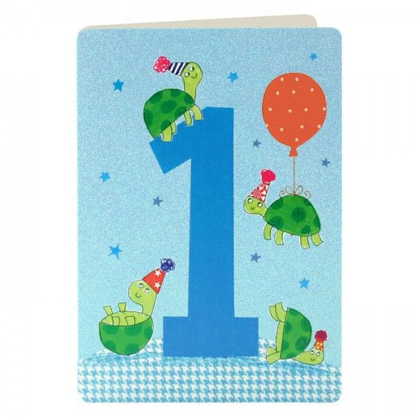 Tortoises 1st Birthday Card - product images
