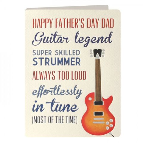 Guitar,Father's,Day,Card,buy dad father's day cards online, buy fathers day cards online,  guitarist fathers day card, guitar dads day card, guitar legend cards for dads on father's day.