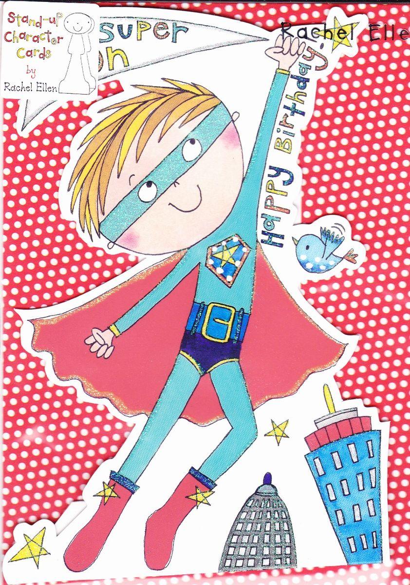 Super Hero Super Son Birthday Card Stand Up Birthday Card