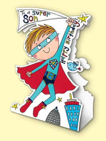 Super,Hero,Son,Birthday,Card,-,Stand,Up,buy super hero birthday card online, buy superman birthday card online, buy superheros birthday cards online for sons, buy son birthday card online, buy stand up birthday cards for children online, buy birthday cards for sons online, buy birthday cards fo