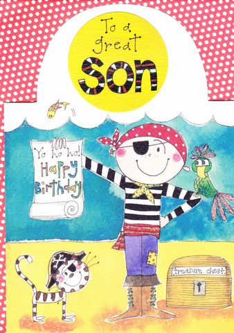 Pirate,Son,Birthday,Card,buy son birthday card online, buy stand up birthday cards for children online, buy birthday cards for sons online, buy pirate birthday cards for son online, pirate brithday cards for kids, son birthday cards with pirates