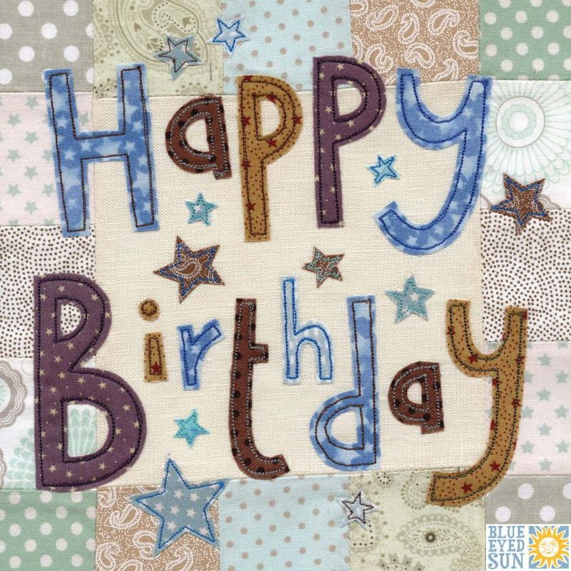 Stars Happy Birthday Card - Large, luxury birthday card - product images