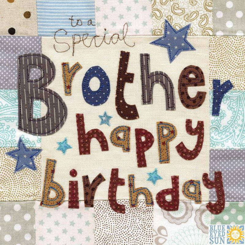 To A Special Brother Birthday Card - Large, luxury birthday card - product images