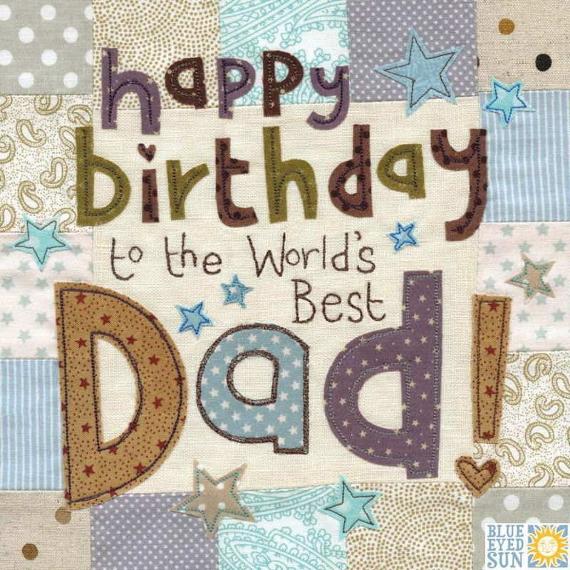 World's Best Dad Birthday Card - Large, luxury birthday card - product images