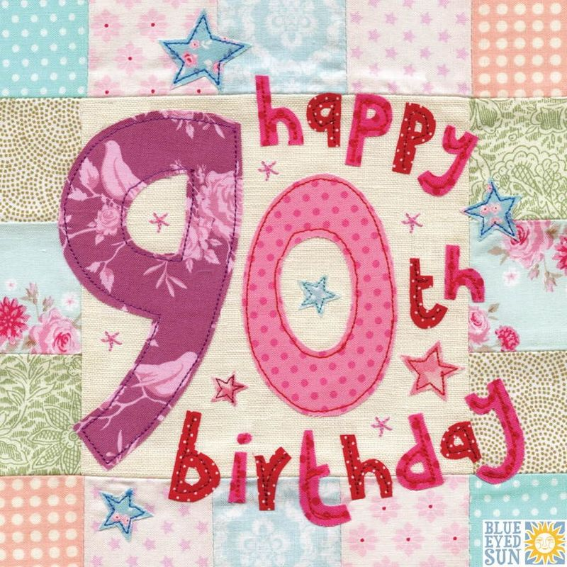 Happy 90th Birthday Card - Large, luxury birthday card - product images