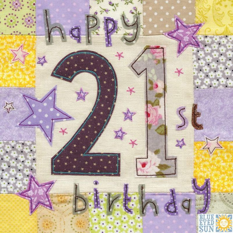 Happy 21st Birthday Card - Large, luxury birthday card - product images