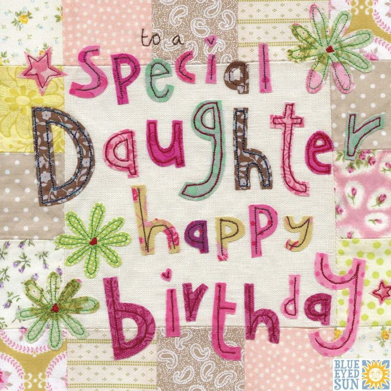 Special Daughter Birthday Card - Large, luxury birthday card - product images