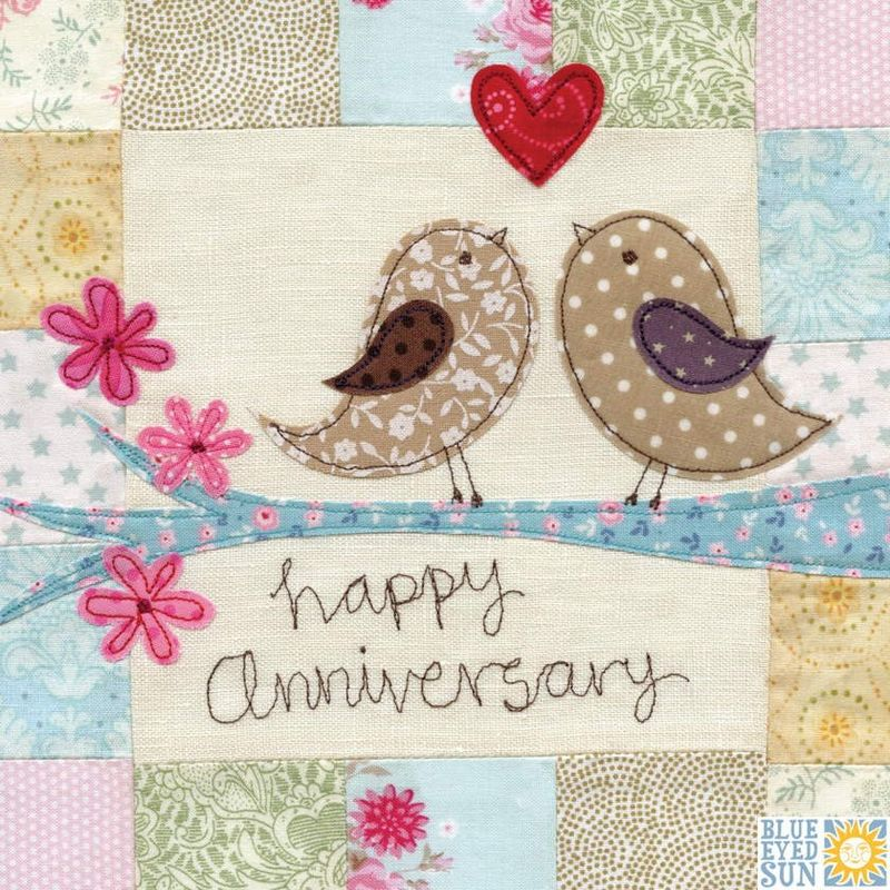Birds On A Branch Anniversary Card Large Luxury Wedding Product Images