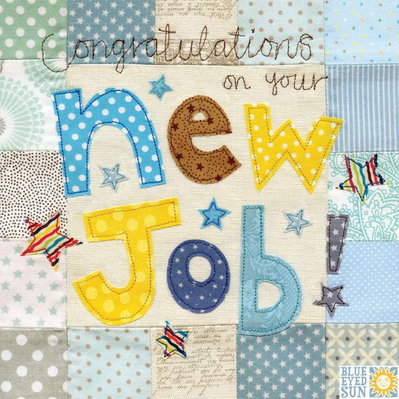 Congratulations On Your New Job Card - Large, luxury card - product images