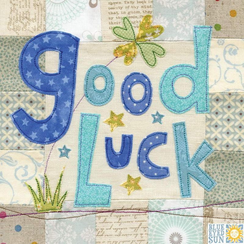 Good Luck Clover Leaf Card - Large, luxury card - product images