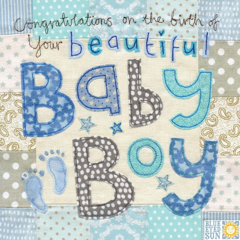 congratulations on the birth of your beautiful baby boy card large luxury new baby card karenza paperie
