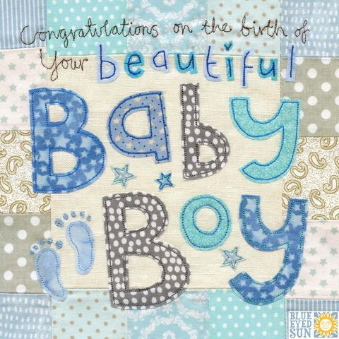 Baby cards collection karenza paperie congratulations on the birth of your beautiful baby boy card large luxury new baby card m4hsunfo Gallery