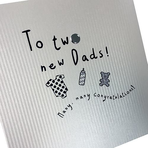 To Two New Dads New Baby Card - product images  of