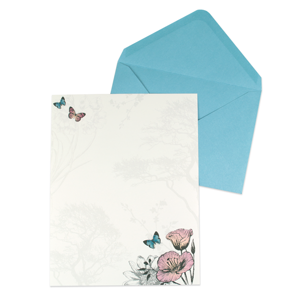Butterflies & Flowers Enchanted Woodland Writing Set - product images  of