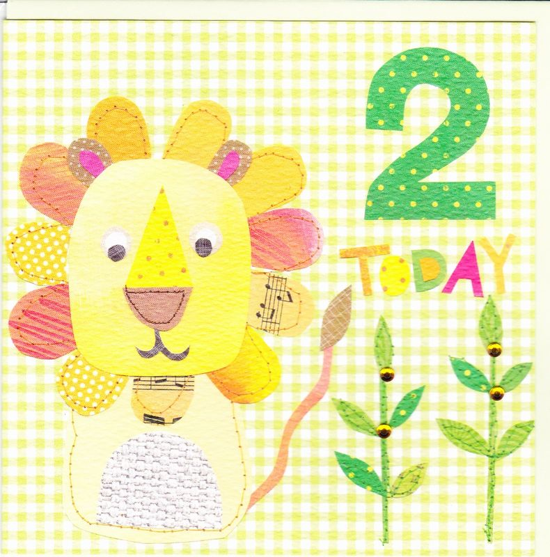 Lion 2nd Birthday Card - product images  of