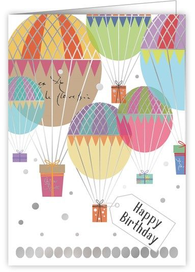 Hot Air Balloons Birthday Card - product images