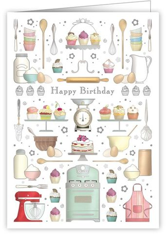 Baking,Birthday,Cake,Happy,Card,buy baking birthday cards online, buy birthday cake birthday cards online, buy birthday cards for baker online, great british bake off birthday cards