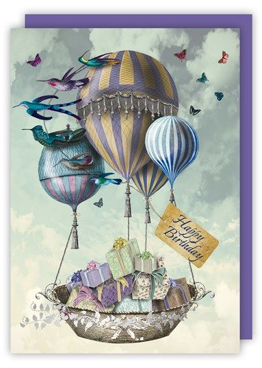 Balloons & Presents Birthday Card - product images