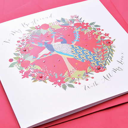 To My Boyfriend With All My Love Card - Large, Luxury Valentine's Day Card - product images  of