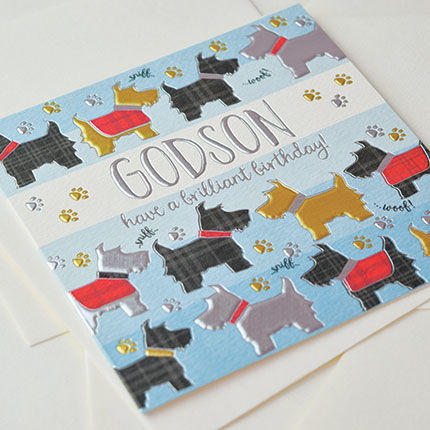 Godson Dogs Birthday Card - product images  of