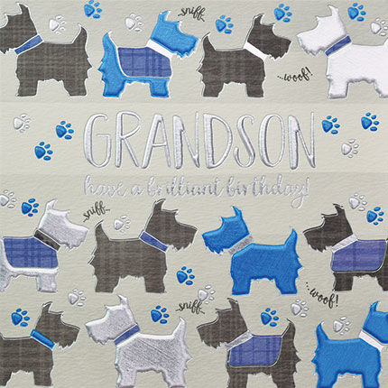 Grandson Dogs Birthday Card - product images  of