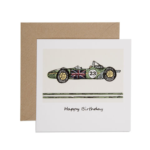 Hand,Printed,Green,Racing,Car,Birthday,Card,buy racing green car cards online for him, buy racing car birthday cards online, buy birthday cards for driver online, buy birthday cards for him with racing car, buy f1 birthday cards online, buy retro birthday cards for men online, buy vehicle birhday c