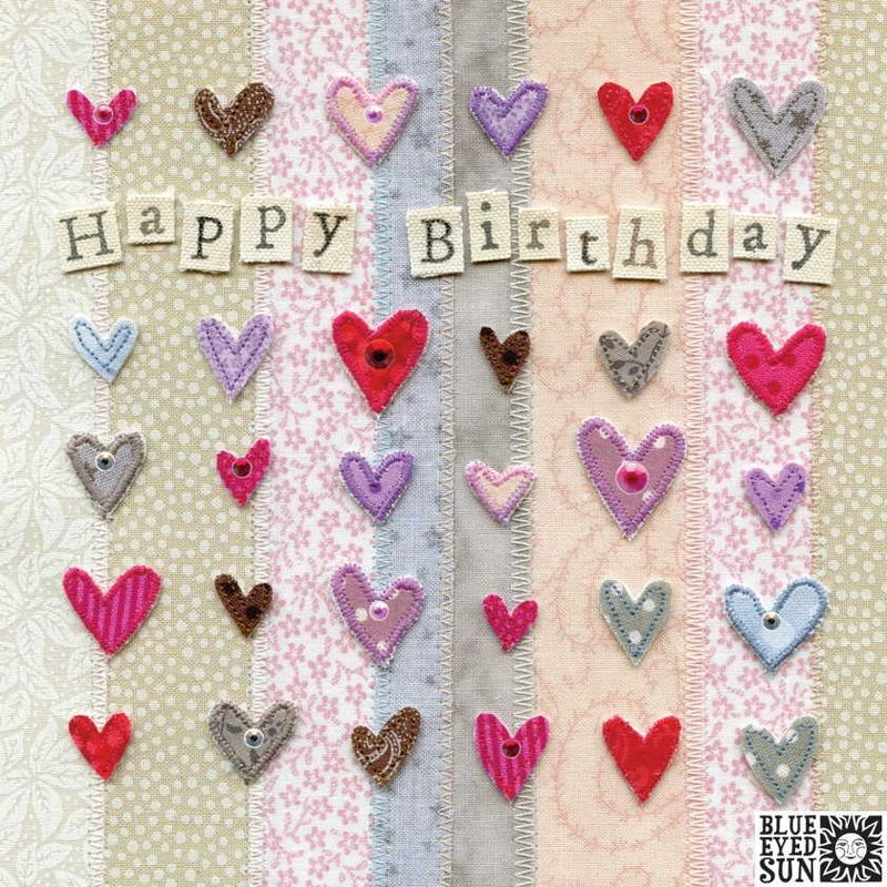 Hearts Happy Birthday Card - product images