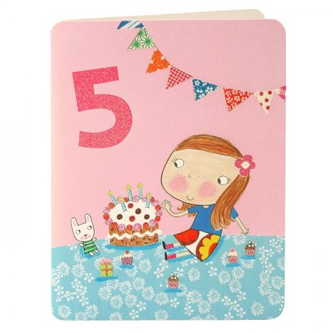 Girl,&,Cake,Age,5,Birthday,Card,buy 5th birthday card online, buy little girls age 5 birthday card online, buy girls 5th birthday card online, buy girls age five birthday card online, birthday cake birthday cards, age 5 birthday cards, childrens birthday cards