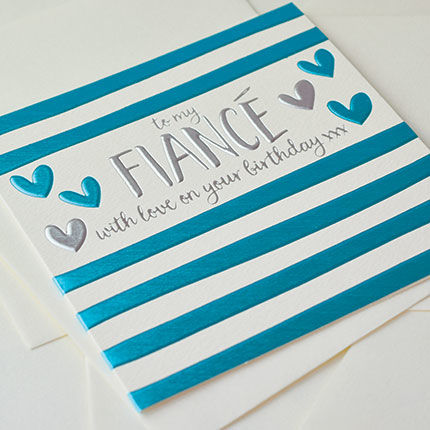 To My Fiancé Birthday Card - product images  of