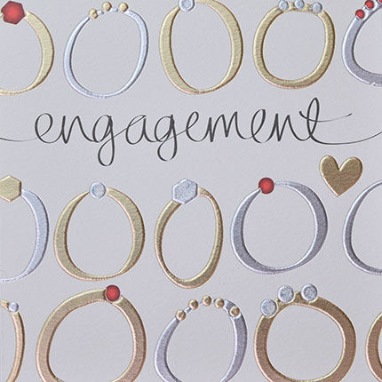 Hand Finished Rings Engagement Card - product images  of