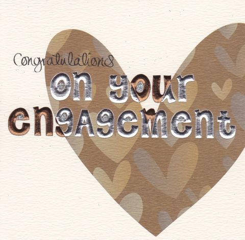 Hand,Finished,Heart,Engagement,Card,buy engagement card online, engagement cards, engaged card, congratulations card, heart engagement card, engagement cards with hearts