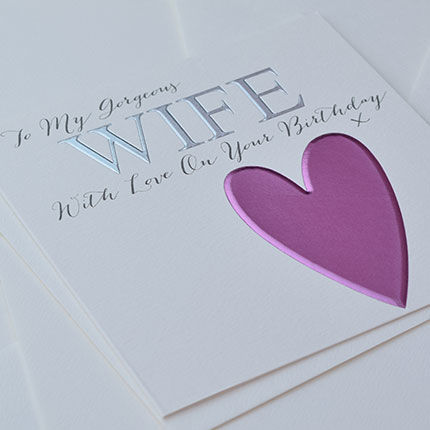 To My Gorgeous Wife Birthday Card - product images  of