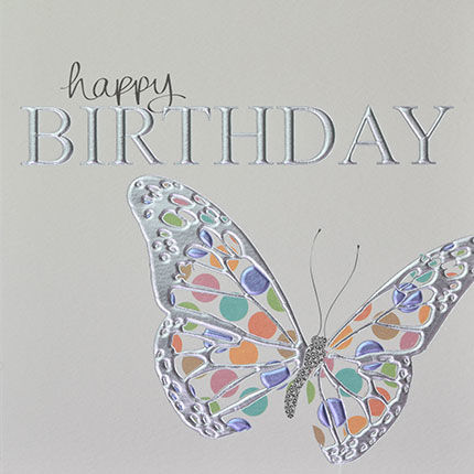 Dotty,Butterfly,Birthday,Card,buy butterfly birthday cards online, butterfly birthday cards, birthday card for her, female birthday card, ladies birthday card, girls birthday card, butterfly birthday card, cards with butterflies