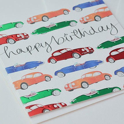 VintageCarsBirthdayCardbuy Car Birthday Card Online Buy Vintage