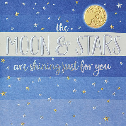 The Moon & Stars Are Shining Just For You Card - product images  of